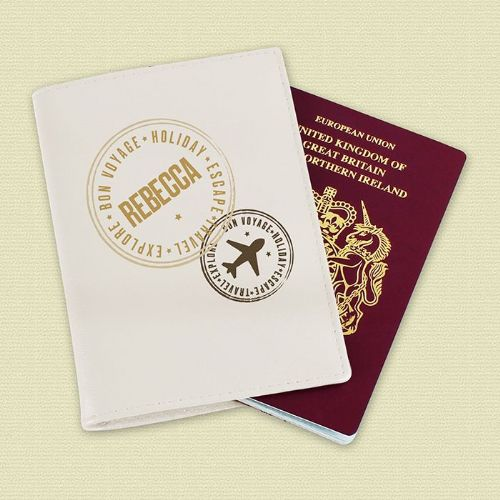 Personalised Gold Name Passport Holder